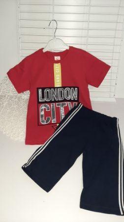 Костюм двойка London city Красный