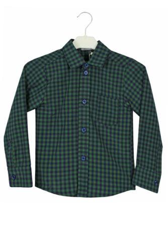 Рубашка клетка Зеленый