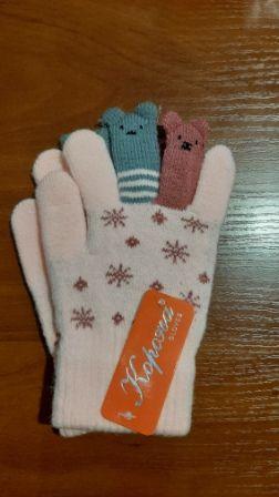 Перчатки Снежинки Микс