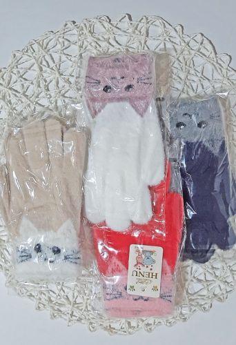 Перчатки Кошечка Микс