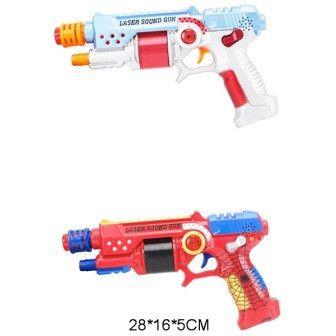Пистолет на баратейках свет звук