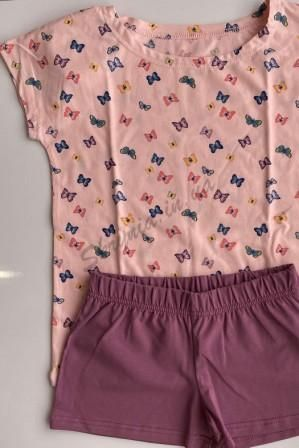 Пижама Бабочки Розовый