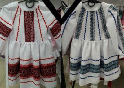 Платье вышиванка длинный рукав Белый