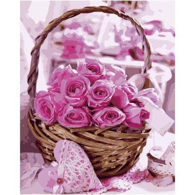 Набор для росписи по номерам Розы