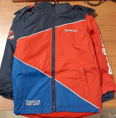 """Куртка для мальчика демисезонная """"Grace.Tema club"""" красно-синяя Красный"""