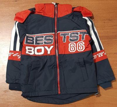 """Куртка для мальчика демисезонная """"Grace.Bestst boy"""" сине-красная Синий темный"""