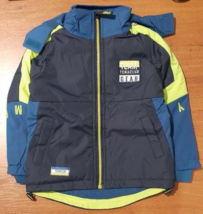 """Куртка для мальчика демисезонная """"Grace.Team Gear"""" сине-салатовый Синий темный"""