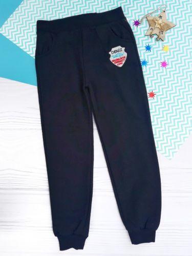 Спортивные брюки Эмблема, начес Черный