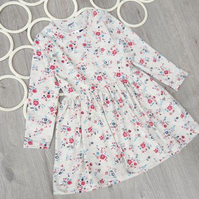 Платье Мелкие цветы Бежевый