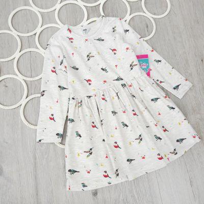 Платье Птички Бежевый