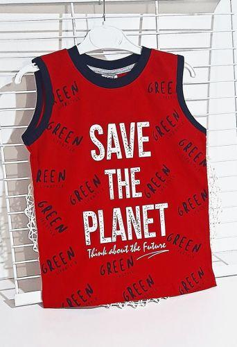 Майка Save the planet Красный