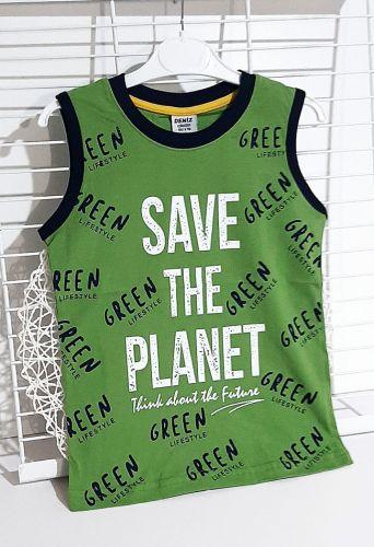 Майка Save the planet Зеленый