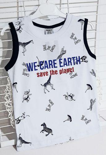 Майка We care earth Белый