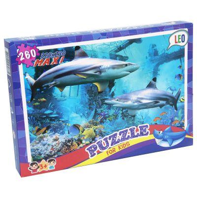 Пазлы 260 эл Акулы