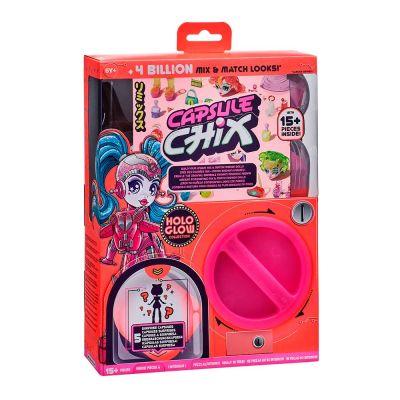 Игрушечный набор CAPSULE CHIX с куклой Holo Glow
