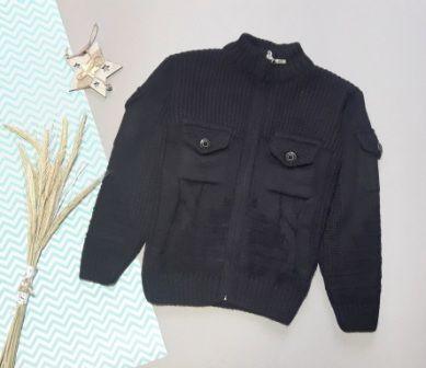 Кофта вязаная карманы Черный