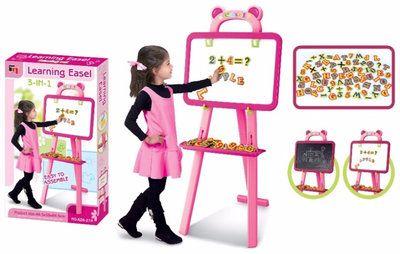 Розовый мольберт 3 в 1 для девочек