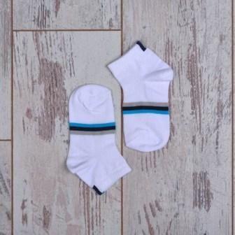 Носки полоса, короткие Белый
