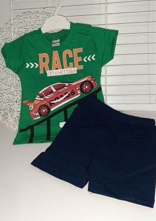 Костюм двойка Race on the road Зеленый