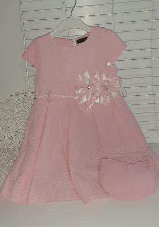 Платье нарядное Два цветка Розовый