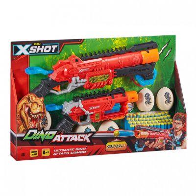 XShot Набор скорострельных бластеров DINO