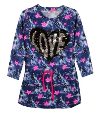 Туника платье Сердце LOVE Синий