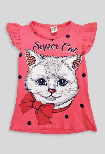 Футболка Super Cat Коралловый