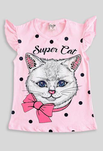 Футболка Super Cat Розовый