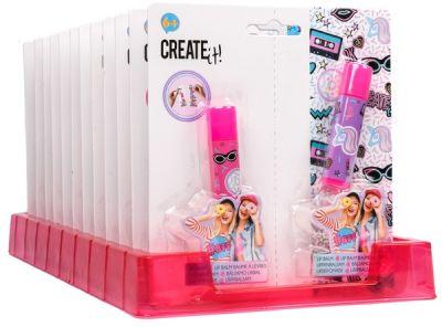 Набор косметики: 2 бальзама для губ girl CREATE IT