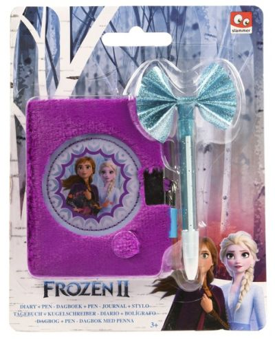 Набор канцтоваров пушистый блокнот с ручкой girl Disney Frozen