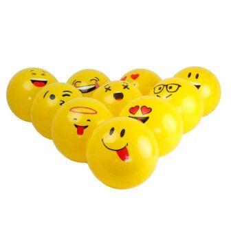 Мяч смайл желтый