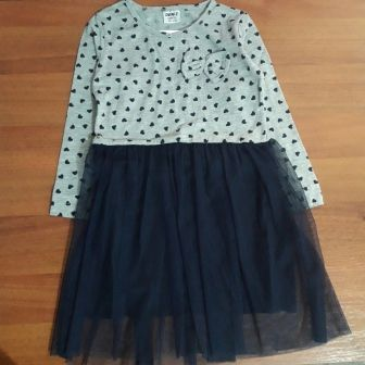 Платье трикотажное Бант Серый