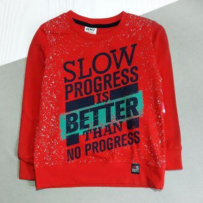 Джемпер Slow progress Красный