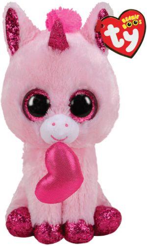 Игрушка TY Beanie Boos Розовый единорог Darling 15см