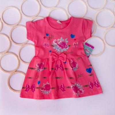 Платье Розочка, бантик Розовый