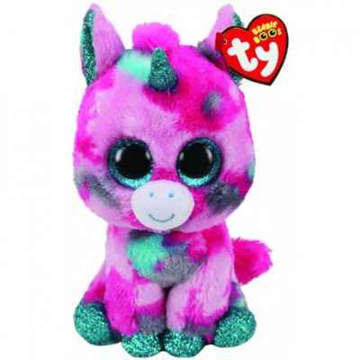Игрушка TY Beanie Boos 36313 Розово голубой единорог UNICORN 15см