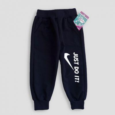 Спортивные брюки манжет 1 - 3 лет Синий темный