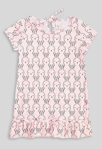 Платье Зайцы Светло-розовый