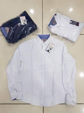 Рубашка мелкий накат Белый