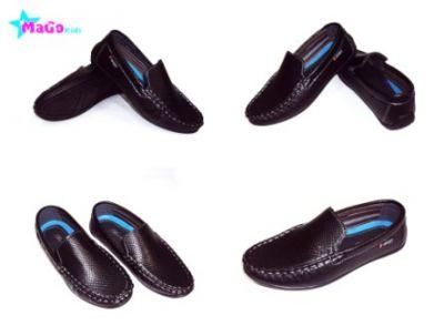 """Туфли для мальчика """"Леопард"""" Черный"""
