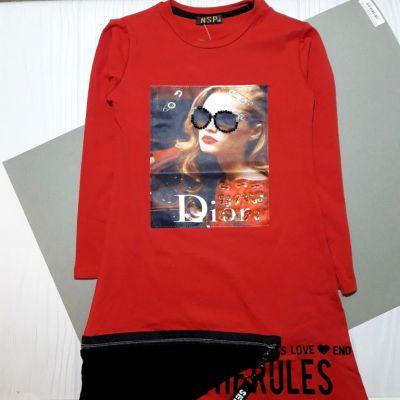 Платье Леди Диор Красный