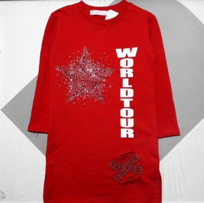 Платье трикотажное Звезда Красный