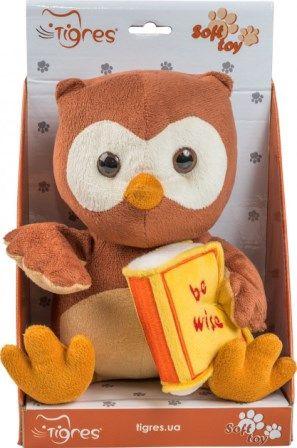Мугкая игрушка Сова  be wise 22 см
